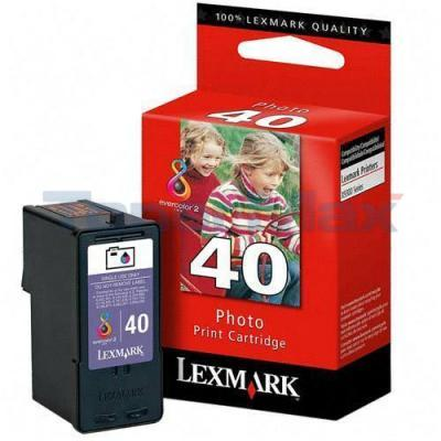 LEXMARK X4850 NO. 40 PRINT CART PHOTO